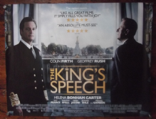 The King's Speech, Original British Quad Poster, Colin Firth,'10